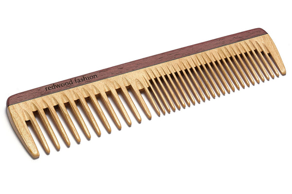 Antistatic Hairdressing-Comb made of Wood, perfect for medium length to long, straight or wavy Hair, 19 cm long