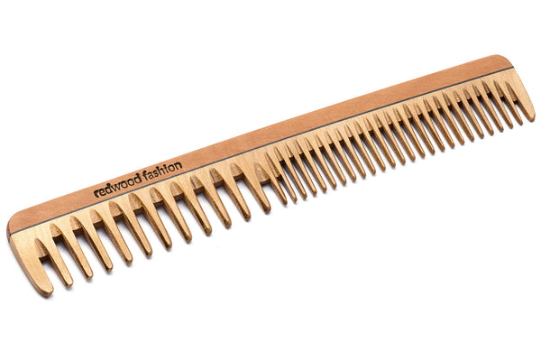 Antistatic Hairdressing-Comb, extra thin, made of Wood, perfect for medium length to long, straight or wavy hair, 19 cm long