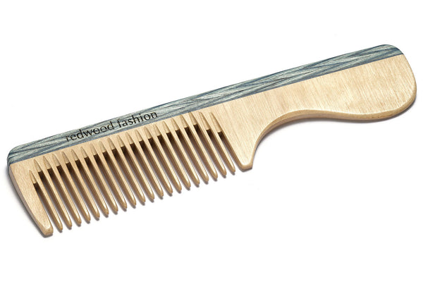Antistatic Comb with Handle made of Wood, perfect for medium length, straight or wavy Hair, 16 cm long