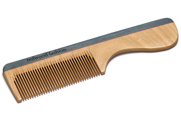 Antistatic Comb with Handle made of Wood, perfect for short, straight Hair, 16 cm long