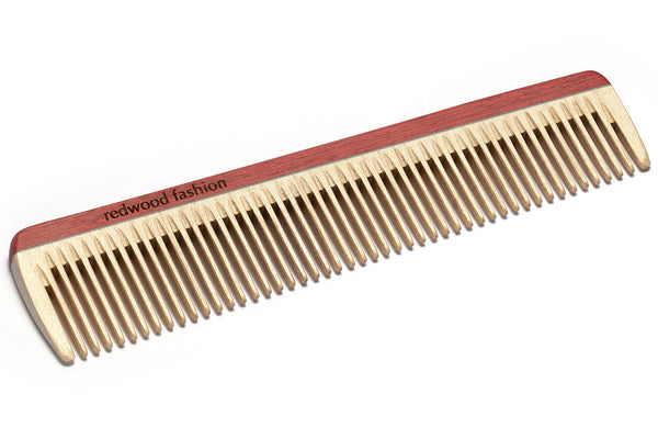 Antistatic Hairdressing-Comb made of Wood, perfect for medium length, straight or wavy Hair, 18 cm long