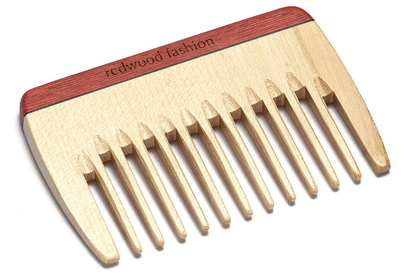 Antistatic Styling Comb made of Wood, colourful, perfect for medium to long, wavy or curly hair, 10 cm length
