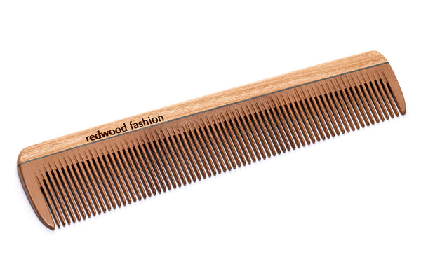 Antistatic Pocket Comb made of Wood, for fine, short or straight Hair, 16 cm long