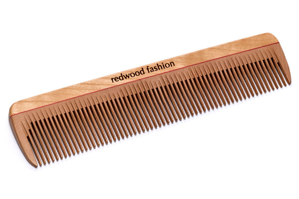 Antistatic Pocket Comb made of Wood, for fine, short or straight Hair, 14 cm long
