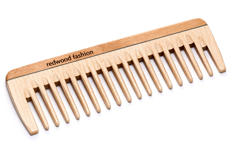 Antistatic Pocket Comb made of Wood, for medium length to long, straight or wavy Hair, 14 cm long