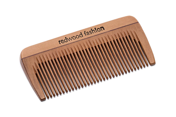 Antistatic Mini-Pocket Comb made of Wood, perfect for short, straight Hair, 8 cm length