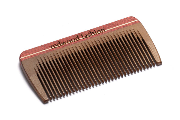 Antistatic Mini-Pocket Comb made of Wood, colourful, perfect for short, straight Hair, 8 cm length