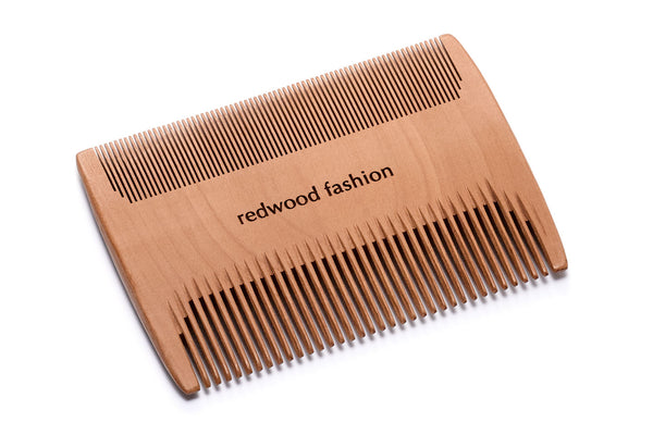Baby-Comb, double-sided, made of Wood, perfect for combing out dust, nits or baby milk crust, 8 cm long