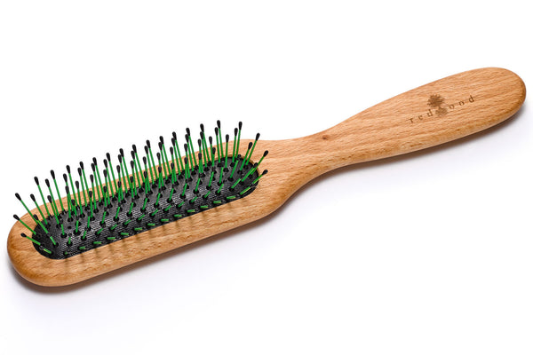 Wire Classic Hairbrush made of waxed Beech, perfect for medium length to long, straight or wavy Hair, 22 cm long