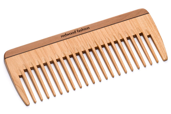 Antistatic Styling Comb made of Wood, perfect for medium lenght to long, wavy or curly hair, 16 cm length