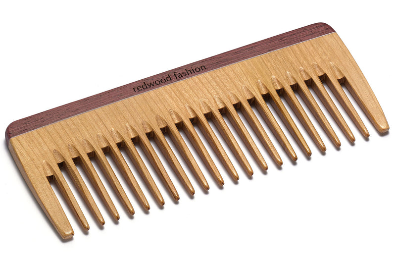 Antistatic Styling Comb made of Wood, colourful, perfect for medium lenght to long, wavy or curly hair, 16 cm length