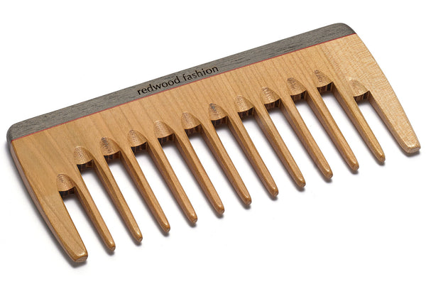 Antistatic Curl Comb made of Wood, colourful, perfect for voluminous, curly hair, 16 cm length