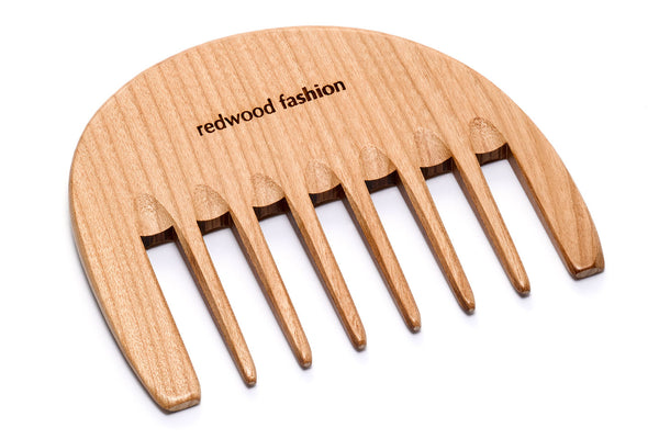 Antistatic Curl Comb made of Wood, perfect for voluminous, curly hair, 10 cm length