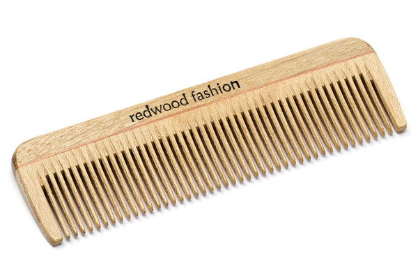 Antistatic Mini-Pocket Comb made of Wood, perfect for short, straight Hair, 10 cm length