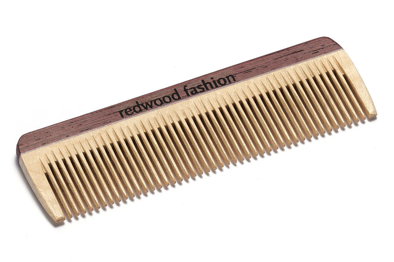 Antistatic Mini-Pocket Comb made of Wood, colourful, perfect for short, straight Hair, 10 cm length