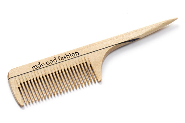 Antistatic Pocket Comb with Handle made of Wood, perfect for mustaches and beards, for combing and styling, 12 cm length