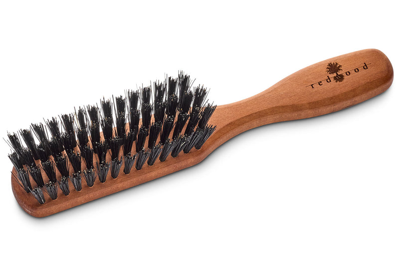 Pocket Classic Hairbrush made of Pear Tree, perfect for medium length to long, straight or wavy Hair, 15.5 cm long