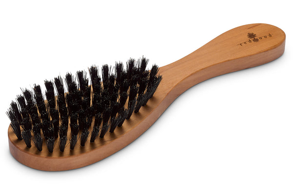 Oval Shape Hair Care Brush made of waxed Pear Tree for straight, wavy or curly Hair, 22 cm long