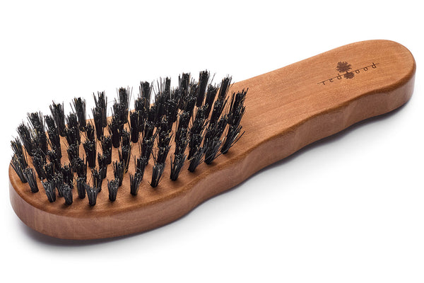Ergonomic Hair Care Brush made of waxed Pear Tree for straight, wavy or curly Hair, 19.5 cm long