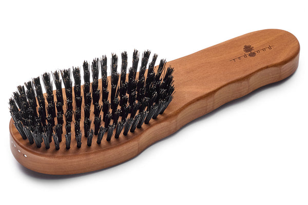 Ergonomic Hair Care Brush made of waxed Pear Tree for straight, wavy or curly Hair, as well as thick Hair, 19.5 cm long
