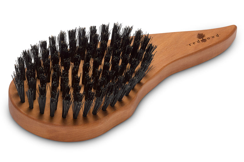 Drop Shape Hair Care Brush made of waxed Pear Tree for straight, wavy or curly Hair, 18 cm long