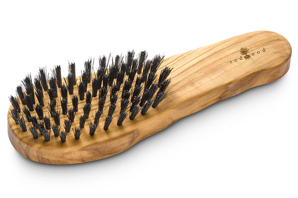 Ergonomic Hair Care Brush made of Olive Wood for straight, wavy or curly Hair, 19.5 cm long