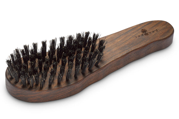Ergonomic Hair Care Brush made of waxed Walnut Tree for straight, wavy or curly Hair, 18 cm long