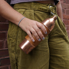 Copper Leather Wrapped Bottle