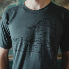 New York State Map Tee