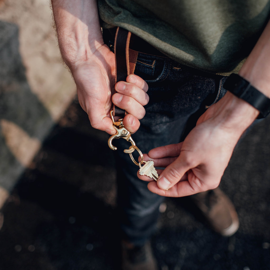 Leather Key Clip Loop