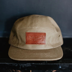 Camp Hat with Leather Patch