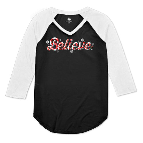 Believe Women's Raglan 3/4 Sleeve