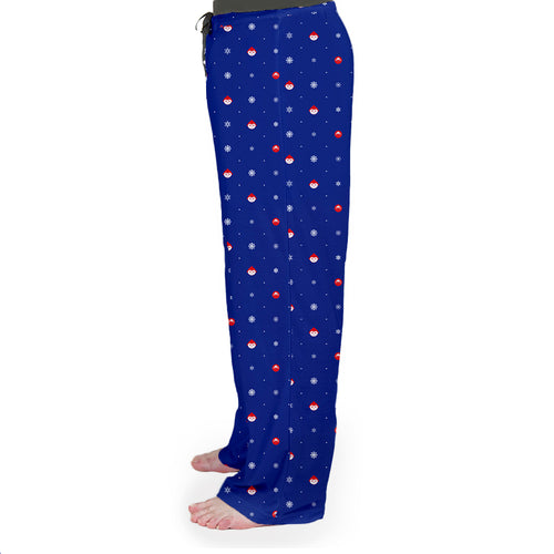 Elf Flakes Men's Pajama Bottoms in Blue