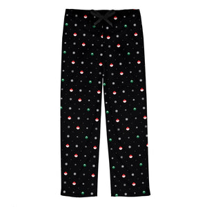 Elf Flakes Men's Pajama Bottoms in Black