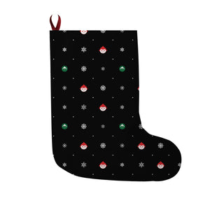 Elf Flakes Christmas Stocking in Black