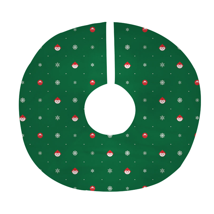 Elf Flakes Tree Skirt in Green