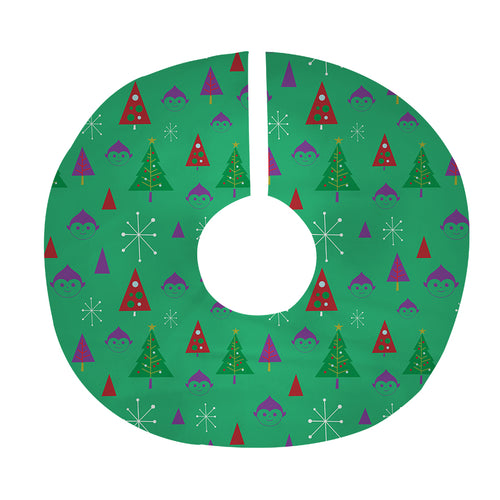 Elf Tree Tree Skirt in Green