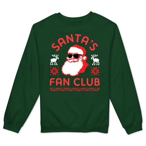 Santa's Fan Club Women's Crewneck Fleece