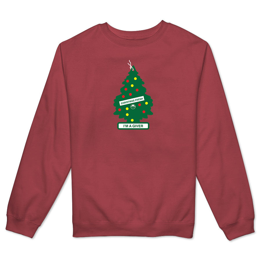 I'm A Giver Air Fresh Tree Men's Crewneck Fleece