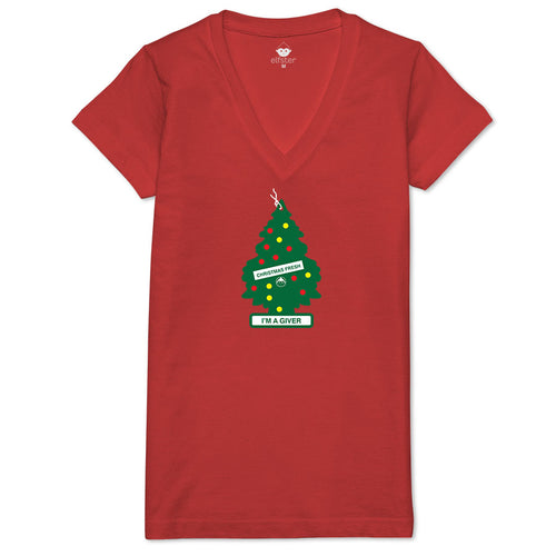 I'm a Giver Air Fresh Tree Women's V-neck Tee