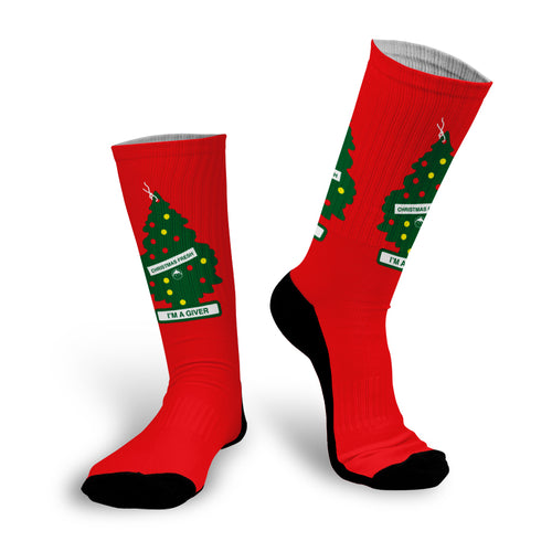 I'm a Giver Air Fresh Tree Christmas Sock
