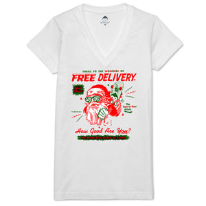 Free Delivery Women's V-neck Tee