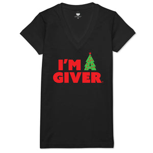I'm A Giver Women's V-neck Tee