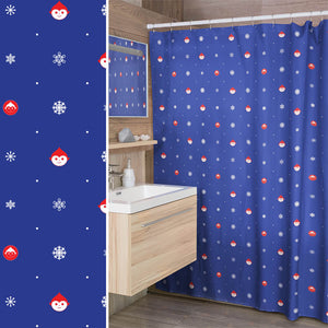 Elf Flakes Shower Curtain in Blue