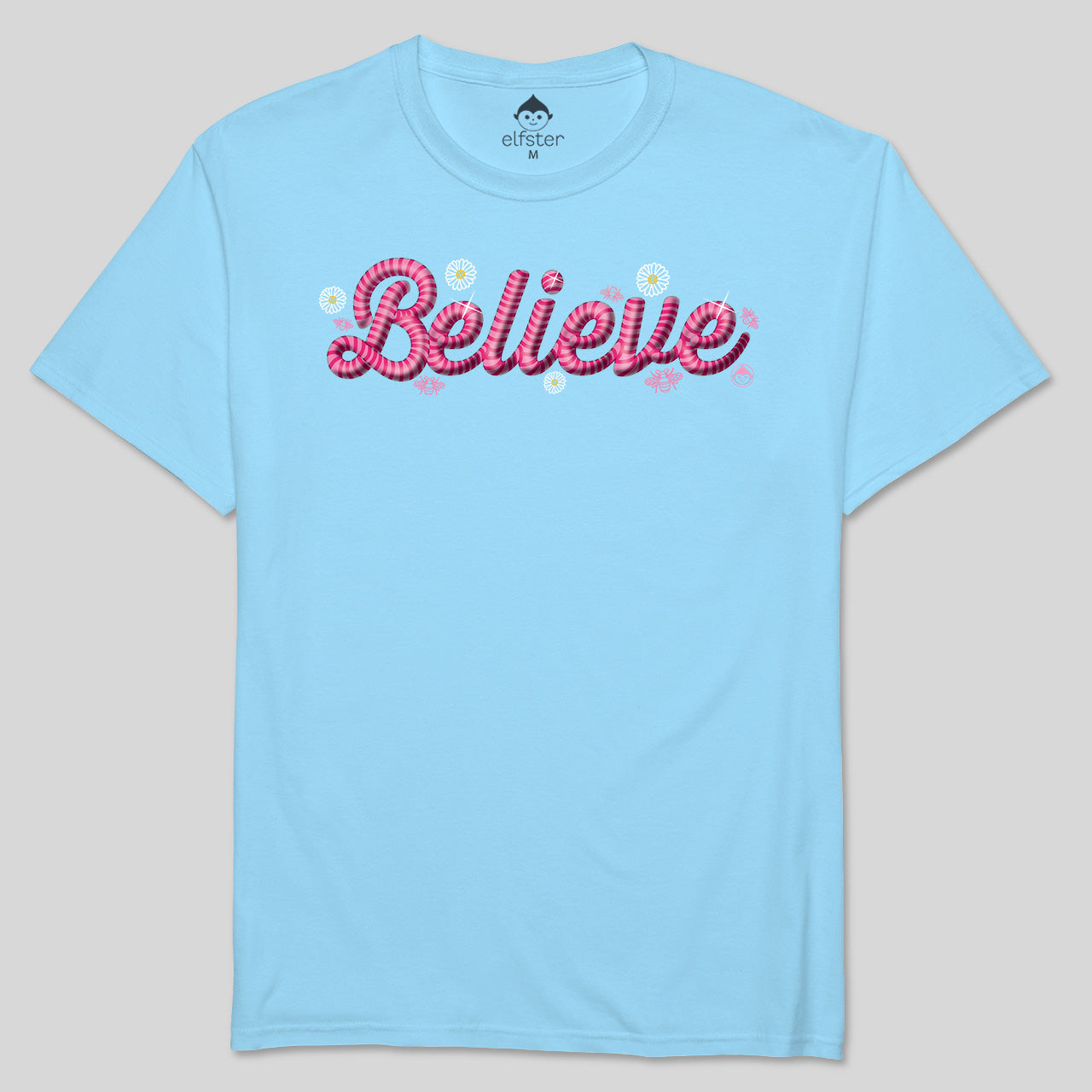 Believe - Summer Edition Light Blue Men's Short Sleeve Tee