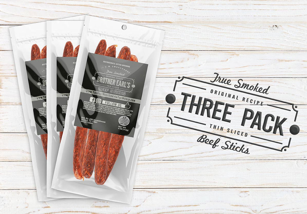 3 Bags Of Beef Sticks