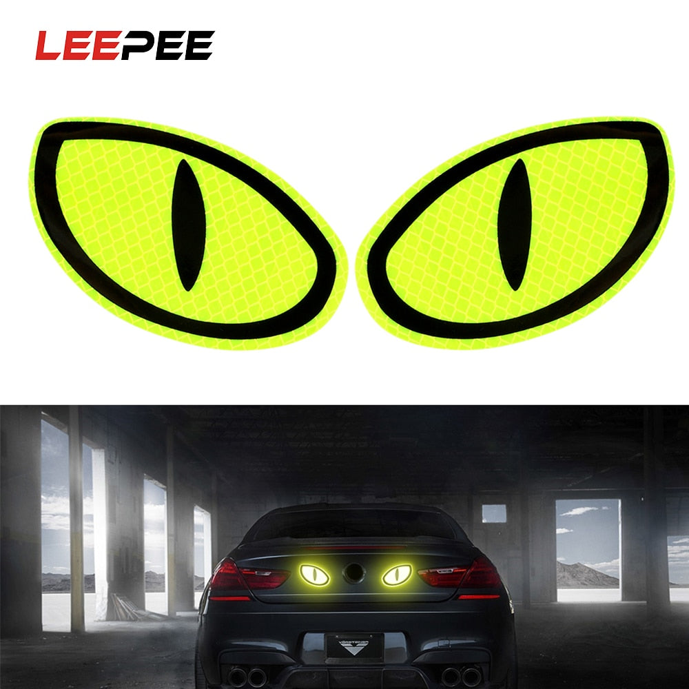 2 Pieces Big Eye Car Reflective Stickers - i-Deals Store