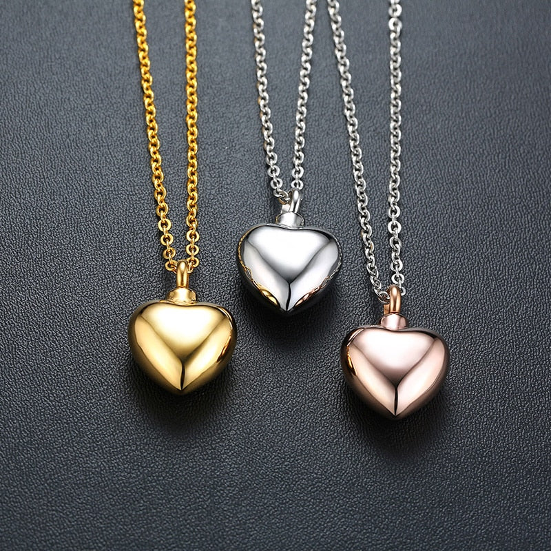 Memory Heart Urn Necklace Cremation Pendant - i-Deals Store