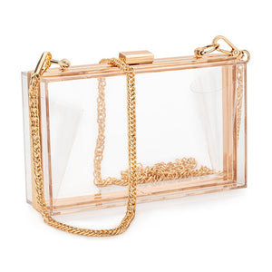 Women Acrylic Clear Purse - i-Deals Store