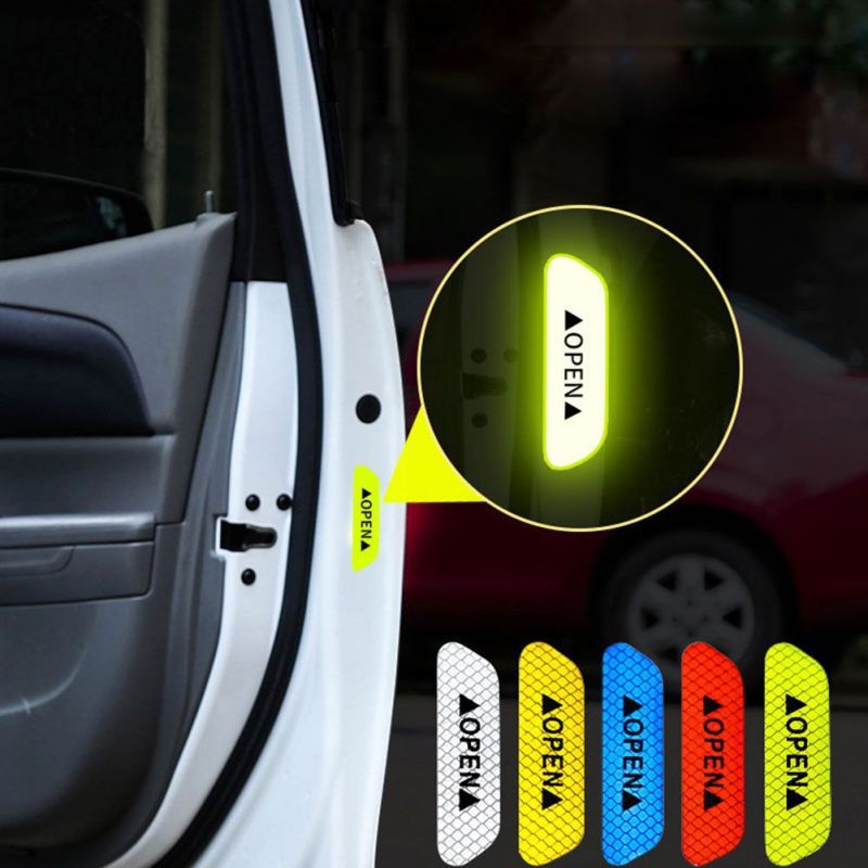 4Pcs Car Door Warning Mark Reflective Stickers - i-Deals Store